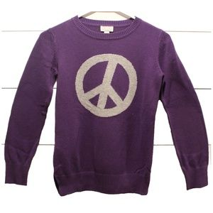 Girl's Children's Place Peace Sweater Size 10/12